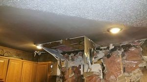 Water Damage Fire Damage Restoration Of Ceiling